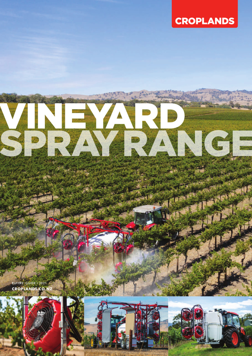 Croplands 2021 Vineyard Spray Range Cover