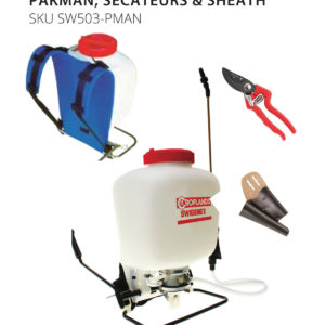 wissmex Sprayer, Pakman and secateur bundle