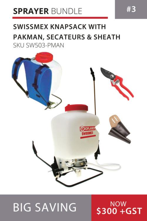 wissmex Sprayer, Pakman and secateur bundle