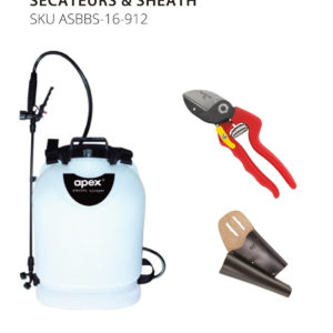 12V Backpack Sprayer with Secateurs & Sheath