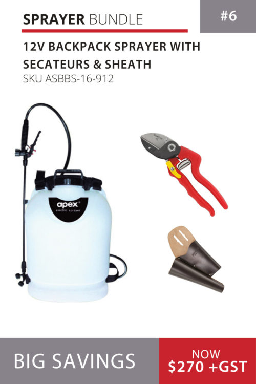 12V Backpack Sprayer with Secateurs & Sheath
