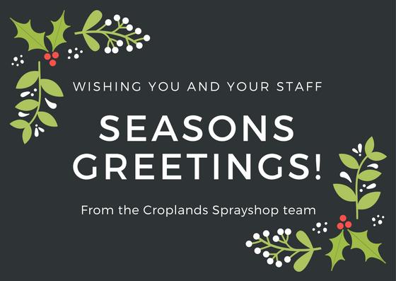 Croplands Sprayshop Christmas Postcard