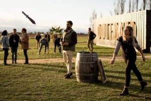 Knife throwing at Outfoxed Hawke's Bay