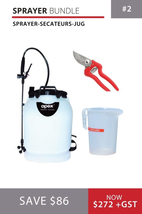 Apex Sprayer bundle with secateurs and measuring jug
