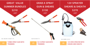 Croplands Summer Sprayer Bundles